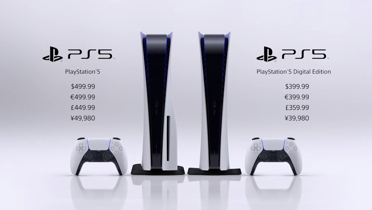 PREORDERS START IN STORE TOMORROW FROM 8AM!   LIMITED STOCK!  ACCESSORIES AND GAMES AVAILABLE TO ORDER TOO!   SEE YOU BRIGHT AND EARLY!  NOVEMBER 19TH RELEASE DATE  PS5 Console - £449.99  PS5 Digital Console - £359.99  #PlayStation5 #PS5   #Playstation5Showcase https://t.co/EouXJMkrGo