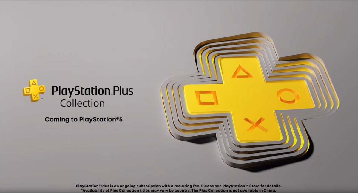 "The new ""PlayStation Plus Collection""   #PS5 owners with PS Plus can download a curated library of PS4 games, including:  -God of War -Bloodborne -Monster Hunter World -Uncharted 4 -Ratchet & Clank -Days Gone -Batman Arkham Knight  +more  https://t.co/UThEgj0Req https://t.co/qePh4ST3OJ"