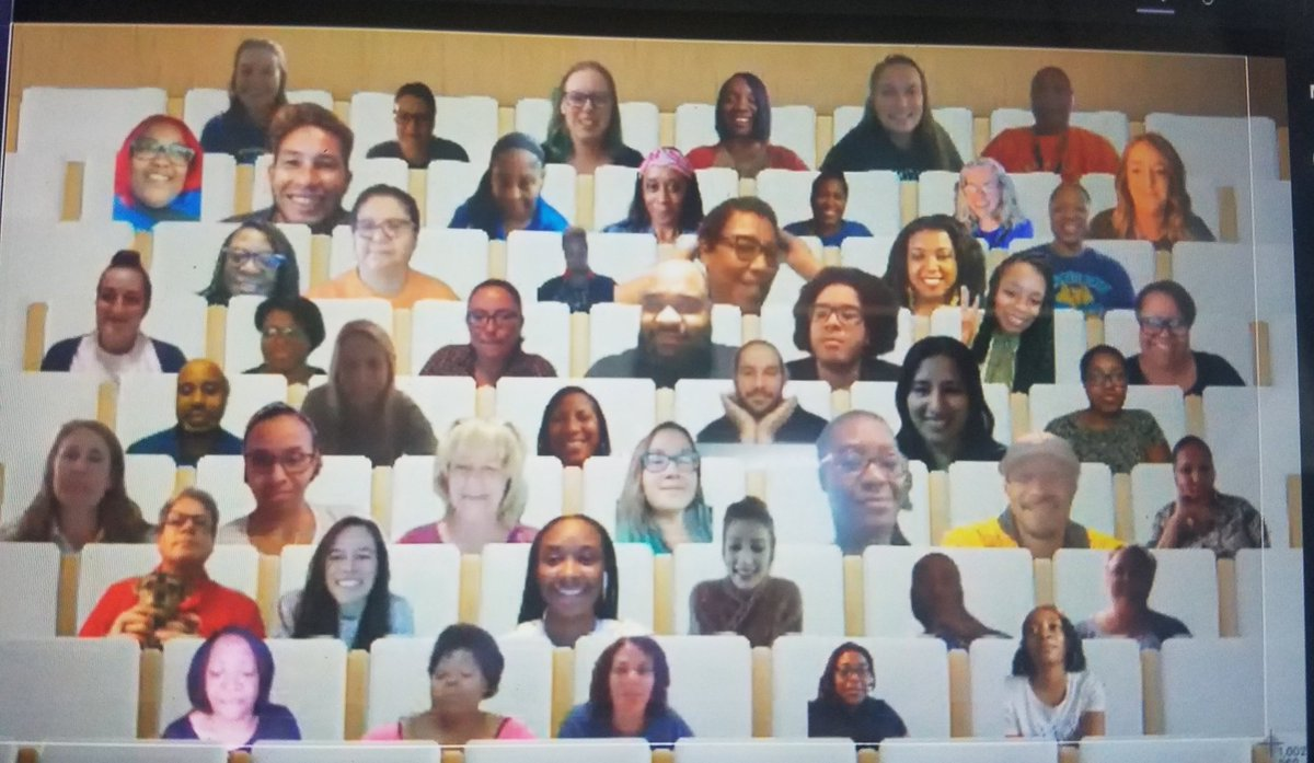 Surprised the staff today with a theatre photo after our virtual staff meeting. Times like these deserve a smile... say cheese! 😁 #lovethesefolk #SELday @DeKalbSchools #championsforchildren thank you techsaavy TOTY @buterflykiss876 https://t.co/MjYnwSlOVA