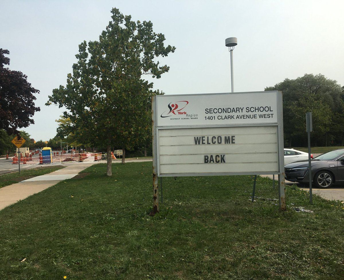 At last nights board meeting, the #YRDSB trustees voted unanimously to rename Vaughan Secondary School following the presentation of areport on renaming the school.  As a first step towards renaming, the old name has been removed from the school sign. https://t.co/f1hPfwUAXn https://t.co/oxxwEbr3eP