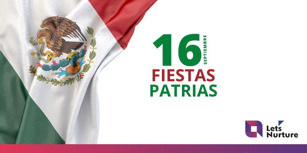 Muchas felicidades a todos los mexicanos en la celebración de su Fiesta Nacional de Independencia!✨ . Congratulations to the people of Mexico in celebrating their National Independence Day!✨ . #LetsNurture #independenceday #indepnedenceday2020 #mexico #16septiembre