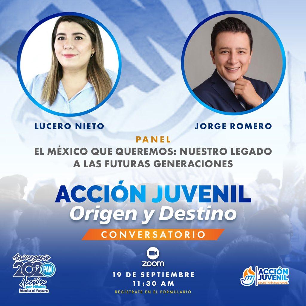 Nuestro papel como jóvenes sin duda no es cosa del futuro, es trabajar desde el presente.   Este sábado contaremos con la presencia de @LuceroNietoR, directora de @JuventudChih y @jorgeromeroGTO, director de @guanajoven.  ¡Compártenos tus preguntas por DM!📨 https://t.co/YZSl7kHb9v