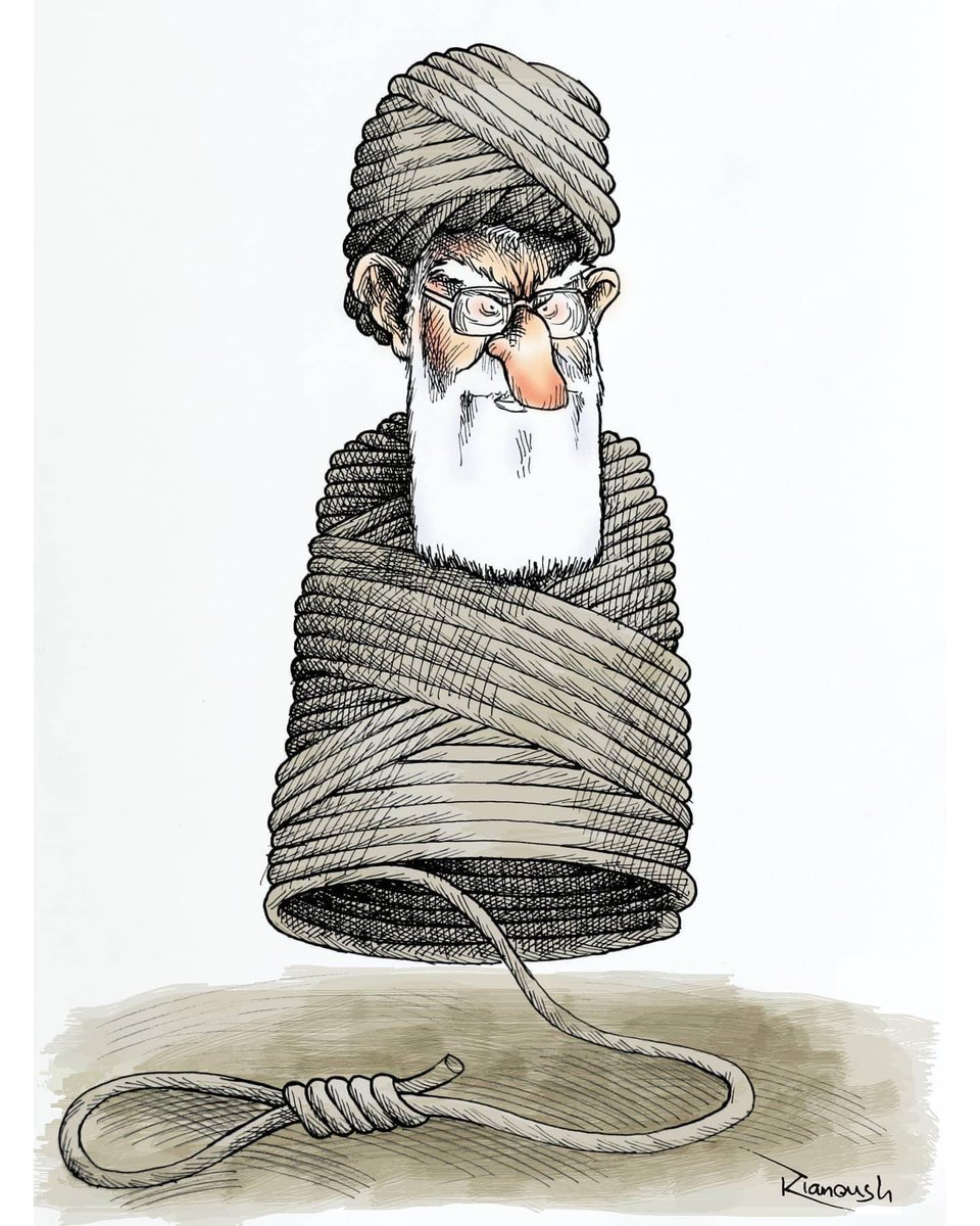 Each execution, makes him closer to his own end! #Iran #IranianRegime © Kianoush Ramezani