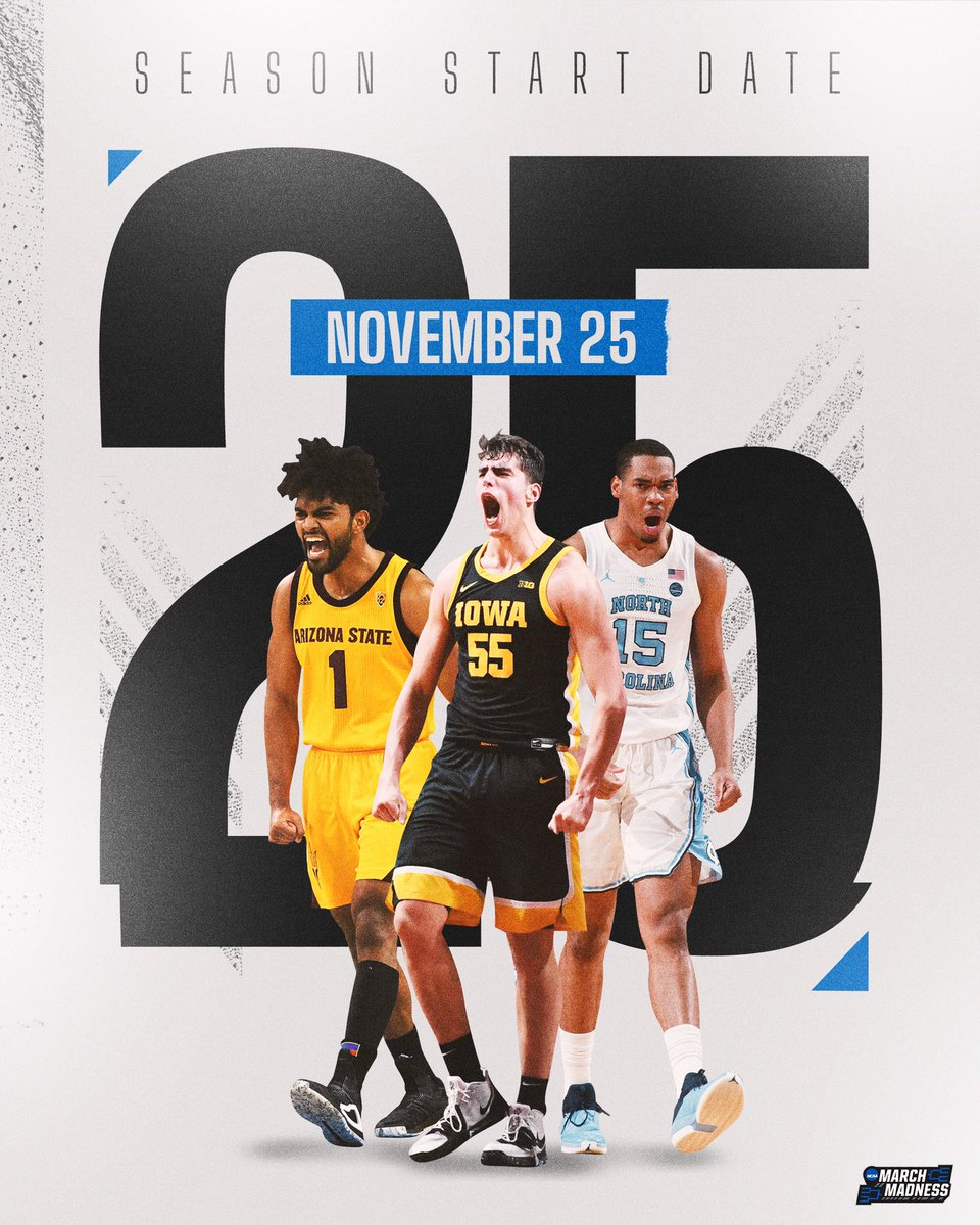 🚨 SEASON UPDATE 🚨  The 2020-21 college basketball season will start Wednesday, November 25. 👉 https://t.co/xwqbNxcmlH https://t.co/d5nwag5rIR