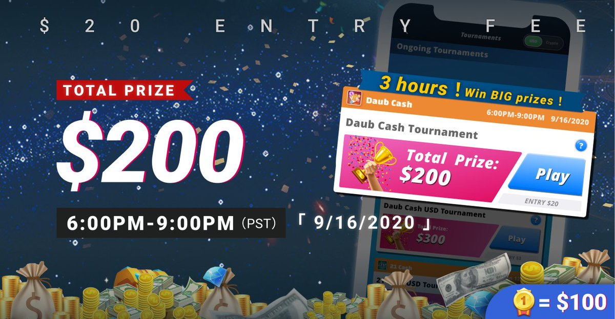 🔥Are you ready to be No.1 and win $100 legit cash? ➡️Join to win at https://t.co/vzbwHtO6j3