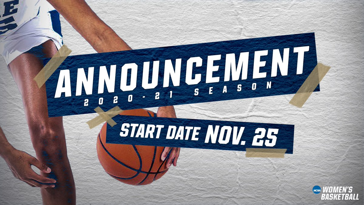 🚨SEASON START DATE Nov. 25 🚨 #ncaaW