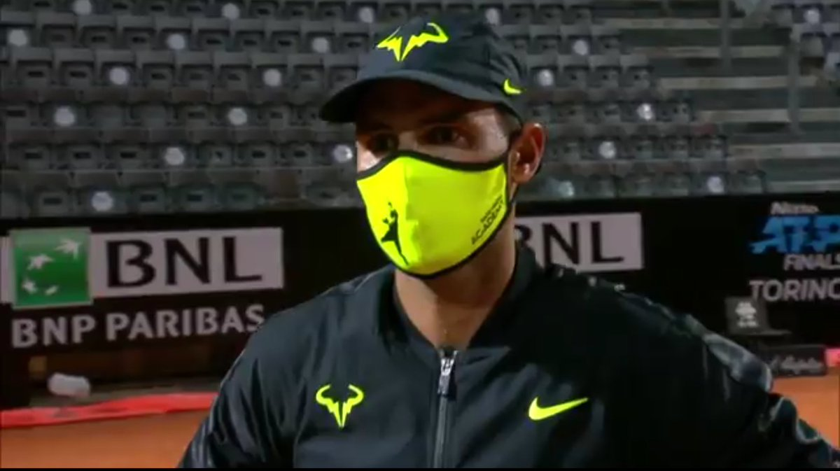 "@RafaelNadal #IBI20  ""It's good to be back on the Tour but obviously the feeling is not the best playing without crowds,"" Nadal said. ""At least there's one positive thing, the sport is back."" https://t.co/glvOIILIGx"