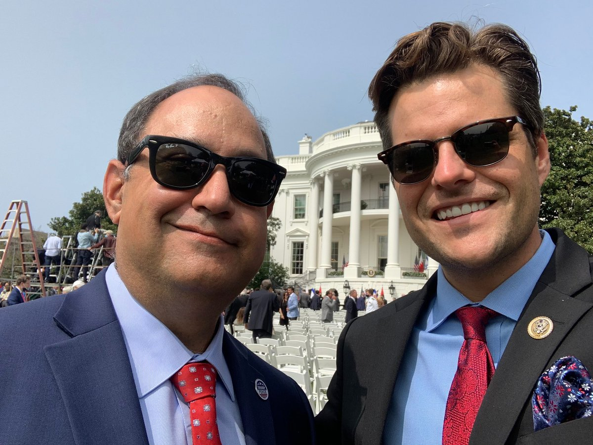 Honored to be at the White House this week for such a historic day! @mattgaetz https://t.co/okKjoRBOny