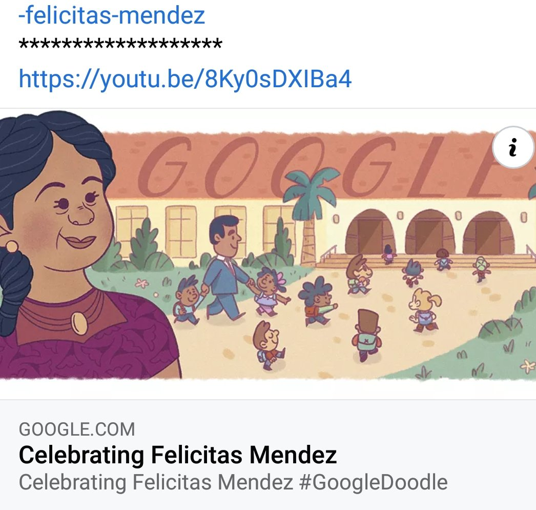 Celebrating Puerto Rican civil rights pioneer and business owner Felicitas Mendez. With her husband Gonzalo, she helped to spearhead and win the monumental lawsuit Mendez v. Westminster, which in 1946 resulted in the first US federal court ruling against public school segregation https://t.co/z99K6vjO8U
