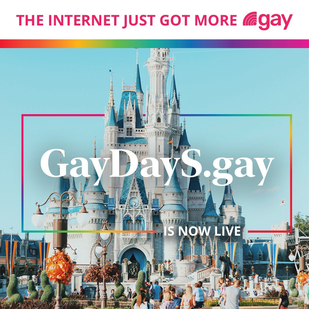 """Gay Days began in 1991 as a designated day when the LGBTQ community and friends were encouraged to """"Wear Red and Be Seen"""" (aka #RedShirtDay) while visiting the world's most popular theme parks.  Please join us in giving #GayDayS a big welcome:  https://t.co/HTXKVizd9F  #GayIsGood https://t.co/K6lkyWIGWc"""