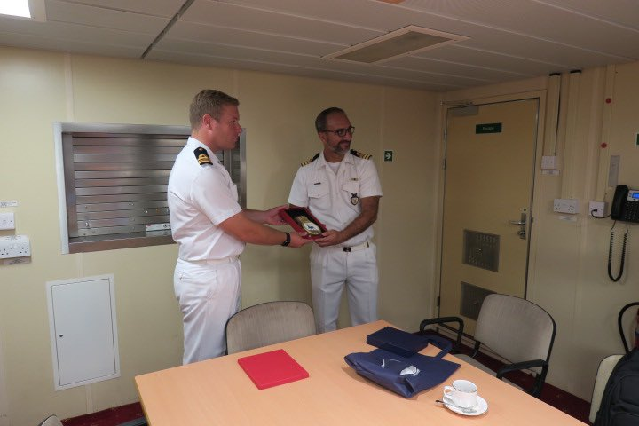 Yesterday we hosted Captain Ioannides and his crew onboard to discuss the upcoming PASSEX and future exercises followed by a tour of the ship.