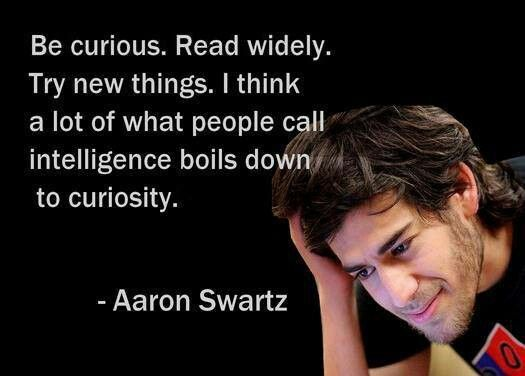 #AaronSwartz is a legend and will never be forgotten! https://t.co/jRKldj13qE