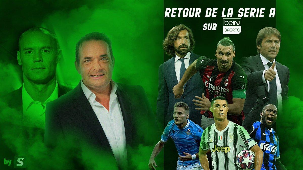 🔴🔴Les amis🔥🔥🔥 ➡️J-2 retour de la @SerieA  🙌🏻Nous vous attendons  ▶️ @beinsports_FR  ⚽️Pour la saison 2020/2021 🤜🏻 Avec @gregorypaisley https://t.co/ZaUY9XjnAC