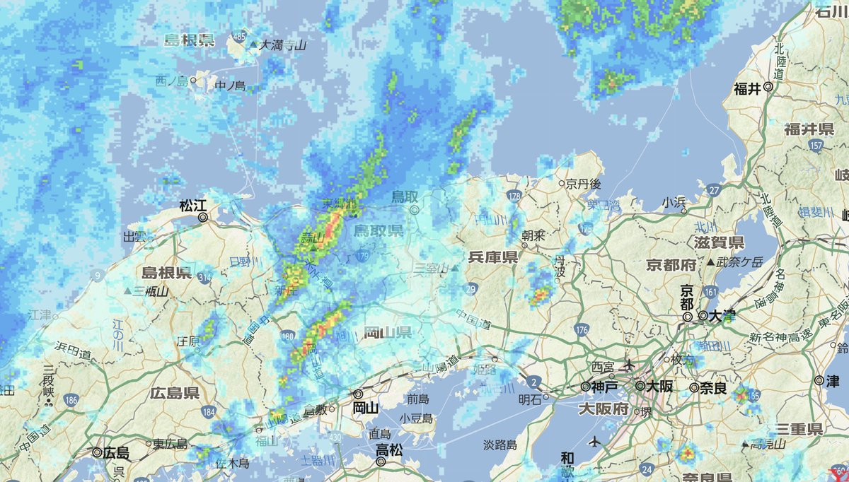 レーダー 天気 予報 京都 雨雲