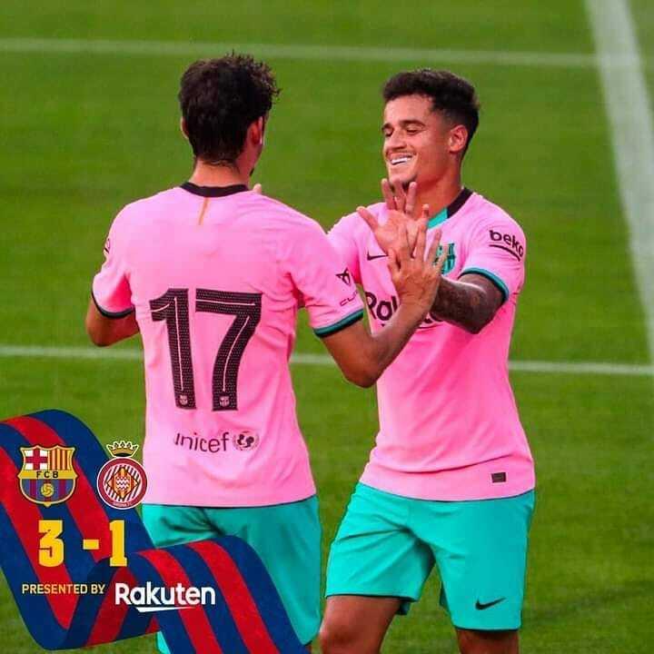 Good win for the boys 👏 Barça 3-1 Girona ⚽️ Messi 2x, Coutinho  💙❤️ #forçabarça   Barcelona-Barca Page: https://t.co/ZWP88vMtBu Barcelona-Barca Instagram: https://t.co/nfYiLeAKIN Barcelona-Barca Twitter: https://t.co/iS9JvueU7Q  #fcb #fcbarcelona #messi #barcelona #Barcelona… https://t.co/Wnw1segVsz