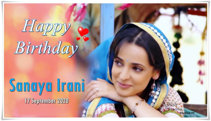 Happy Birthday Sanaya Irani.