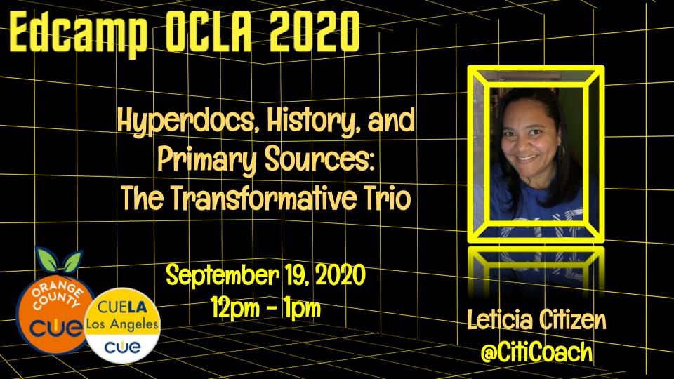 We are only 3 days away from #EdCampOCLA. Super excited to share!!!  🎟FREE 2-day Event  📅 September 19-20, 2020 🔗https://t.co/aaMT2Y0vxY  @cuelosangeles @occue #BetterTogether https://t.co/RK7x22YG4p