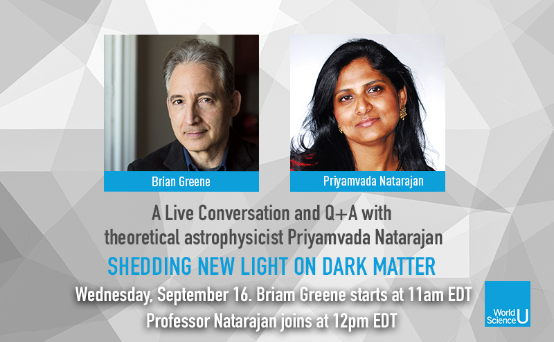 Today at 11am EDT @Bgreene hosts a live Q+A session dedicated to all things dark matter. Cosmologist @SheerPriya joins the conversation at 12pm to discuss her latest research, which has the potential to upend the whole dark matter paradigm.  https://t.co/bw7Yoj03nk #worldsciu https://t.co/03VI19uUYn