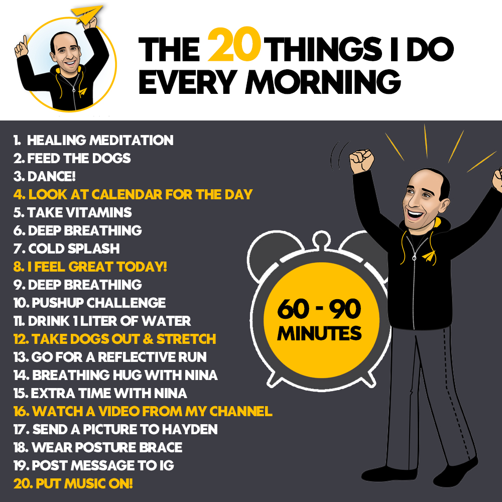 A great day starts with a great morning routine. Here's what my current morning routine looks like. Question: Anything from this list you want to implement for yourself?  Much love,  Evan. #Believe https://t.co/TQyrImgcb8