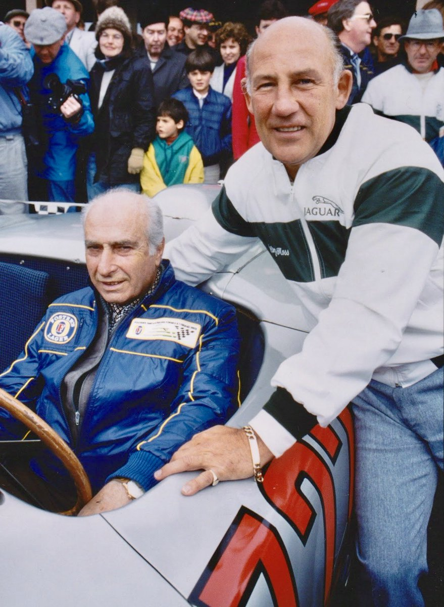 Remembering Sir Stirling Moss, born on this day in 1929. The greatest driver never to win the Formula 1 world championship was a regular at the Adelaide Grand Prix, pictured here with former teammate Juan Manuel Fangio. #F1 #Adelaide https://t.co/ByhgnuP9KD