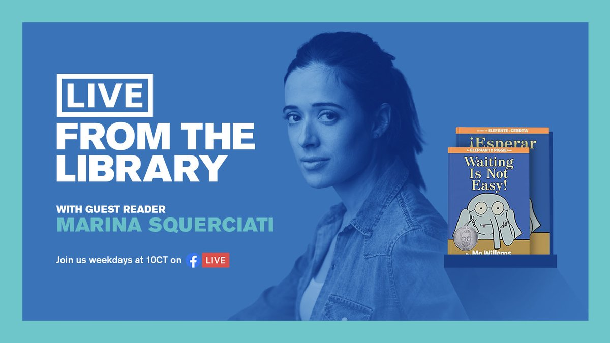 The wonderful @marinasqu  joins #LiveFromTheLibrary at 10am Thursday for #BilingualStoryTime! The @NBCChicagoPD star & @NorthwesternU grad reads Waiting Is Not Easy! by @The_Pigeon, as well as ¡Esperar no es fácil! in Spanish! @MoWillems #OneChicago Visit https://t.co/vyno83FRb0 https://t.co/vFfTomTySJ