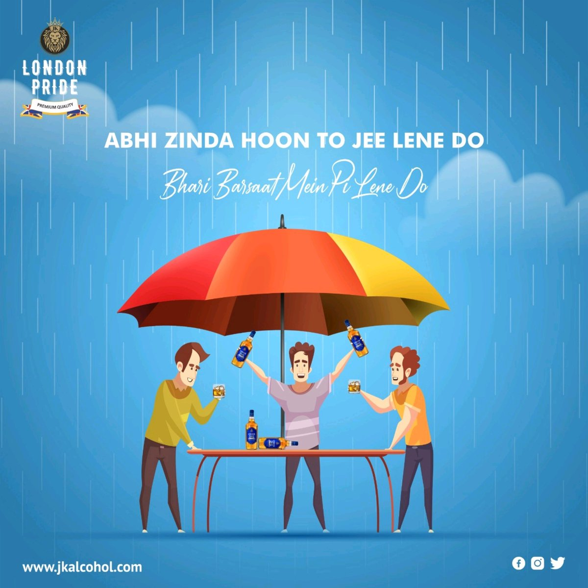 Want to have a drink with your buddies while it's raining? Then, what are you waiting for? Get yourself a bottle and enjoy your day! . #jkalcohol #Jkgroup #JkEnterprises #londonpride #Londonreserve #whisky #vodka #rum #premiumwhisky #indore #gwalior #Bhopal #jabalpur https://t.co/ai72T7KLVz