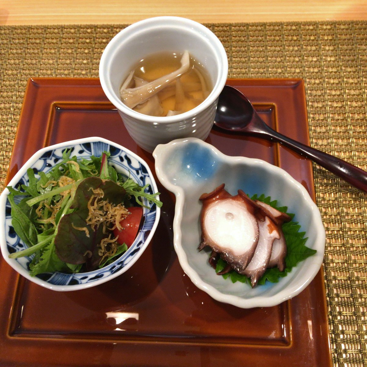 やっとお邪魔できた💦お客様である浅田さんのお店神楽坂にある「あさだ」さんのランチ✨とても美味しかったです👍😋要予約‼️