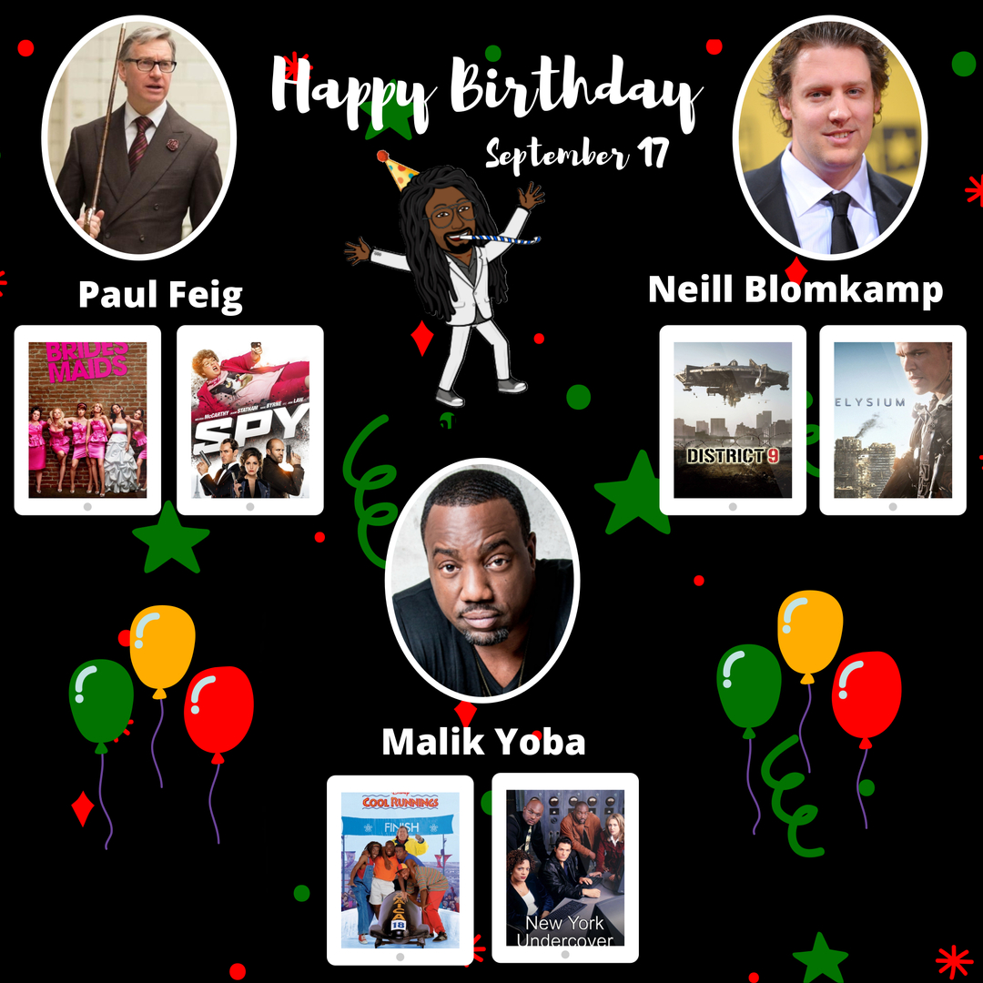 #HBD #PaulFeig #Bridesmaids #Spy #NeillBlomkamp #District9 #Elysium #MalikYoba #CoolRunnings #NewYorkUndercover #netflix #horror #comedy #photography #moviescenes #cine #director #drama #filmmaker #movienight #video #Movies #TV #HappyBirthday #mkdacritic https://t.co/rMpfqUATmg