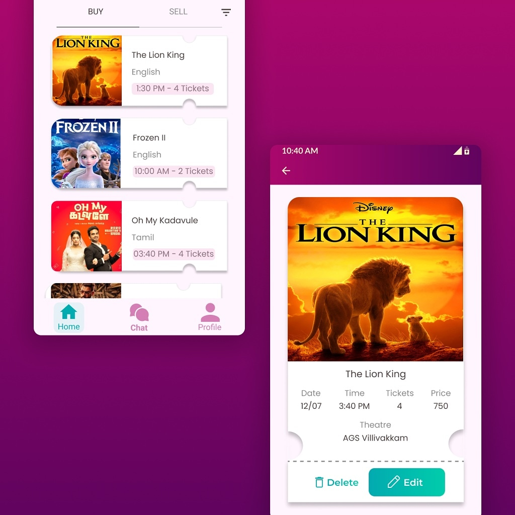 Buy sell tickets app. C2C platform app. Student project.   #tickets #buylocal #buysell #lastminute #eventtickets #movie #movietickets #c2c #platform #ux #ui #uxdesign #uidesign #studentwork #aspira #design #mockup https://t.co/LWONTt3xG8