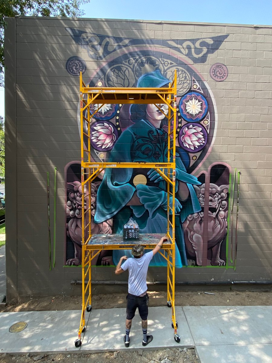 Have you gotten outside to see all the art going up around town?! Extra bonus points if you where this new #ShaunBurner is going up... https://t.co/sOem75yGCR