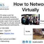 Image for the Tweet beginning: How to network virtually on