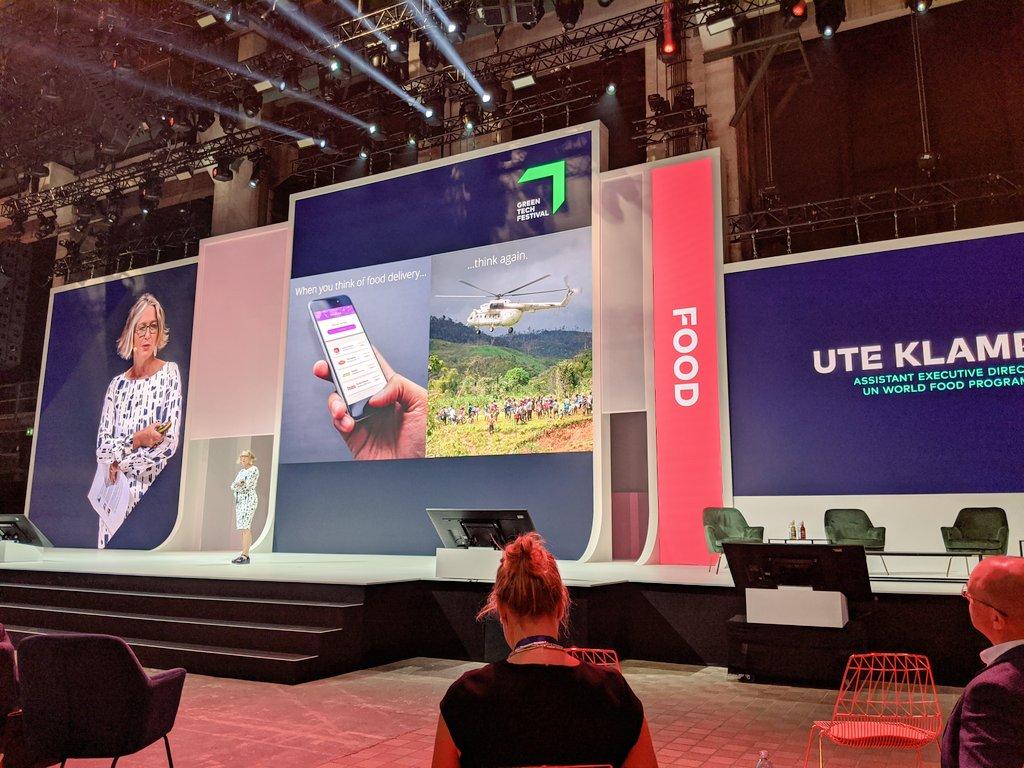 What does it take to reach #zerohunger? @WFP AED Ute Klamert giving a keynote on #innovations @greentech_fest #celebratechange @WFPInnovation @WFP_DE https://t.co/Igxbg5IoGn