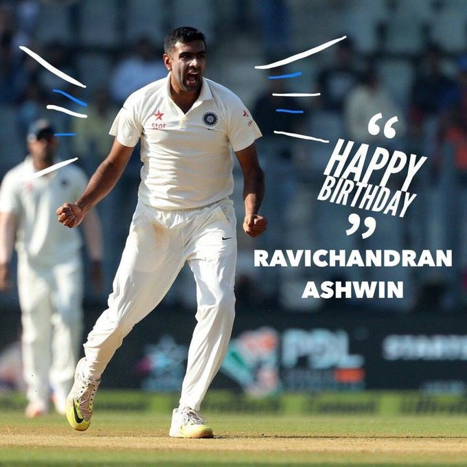Happy Birthday, Ravichandran Ashwin
