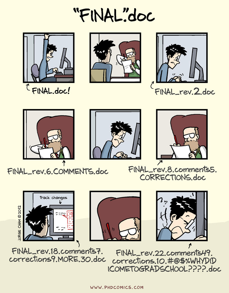 Thinking of all of you finishing writing up your PhD now! Don't do this like I did, online docs ftw!