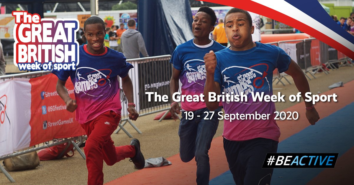 Next week is the Great British Week of Sport, celebrating the power that sport and activity has on our mental, physical and social well-being, and we're encouraging everyone to get involved. Register here gbwos.com/register-activ… and share your images and videos with #BeActive