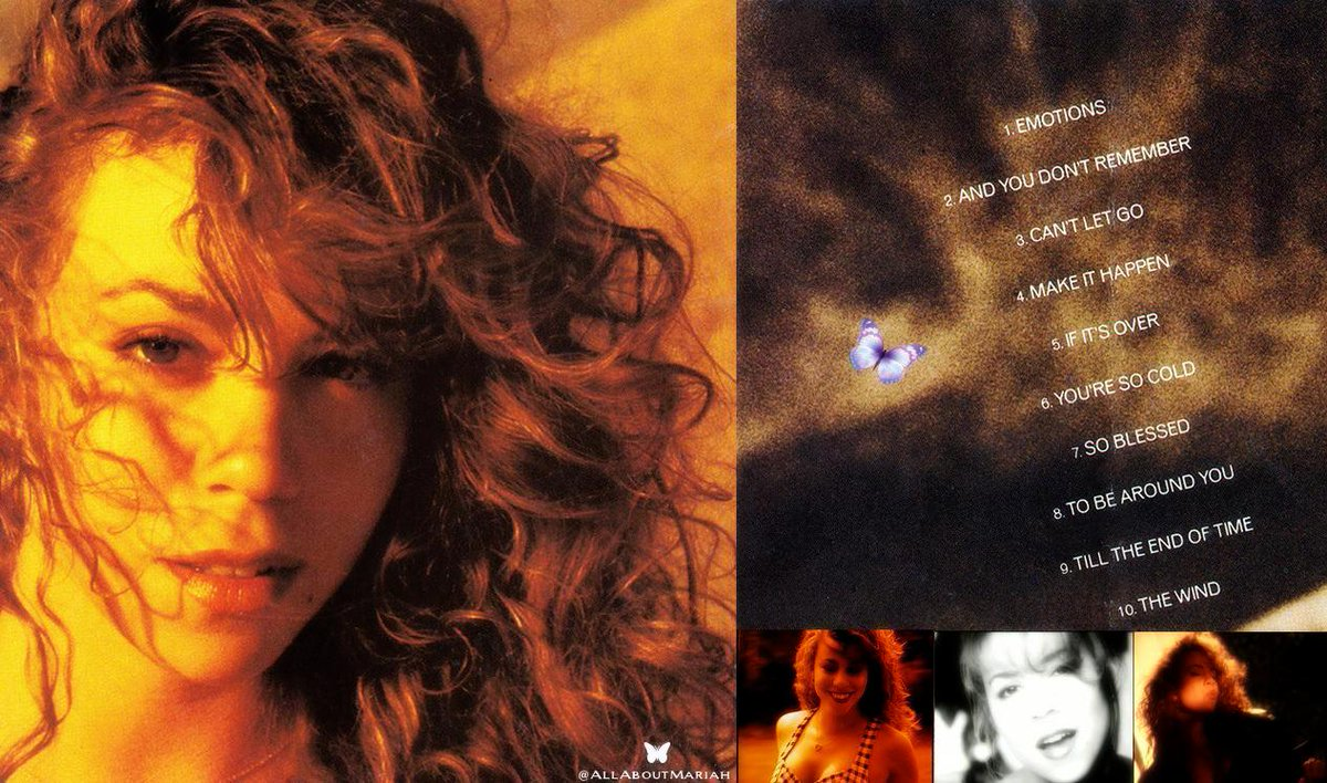 """""""Emotions"""" was released on September 17, 1991.  @MariahCarey 👑   What are your favorite songs from the album?  #29YearsOfEmotions #MC30 🦋 #TheMeaningOfMariahCarey https://t.co/bjZuebPc1C https://t.co/fX2oWgHUYL"""