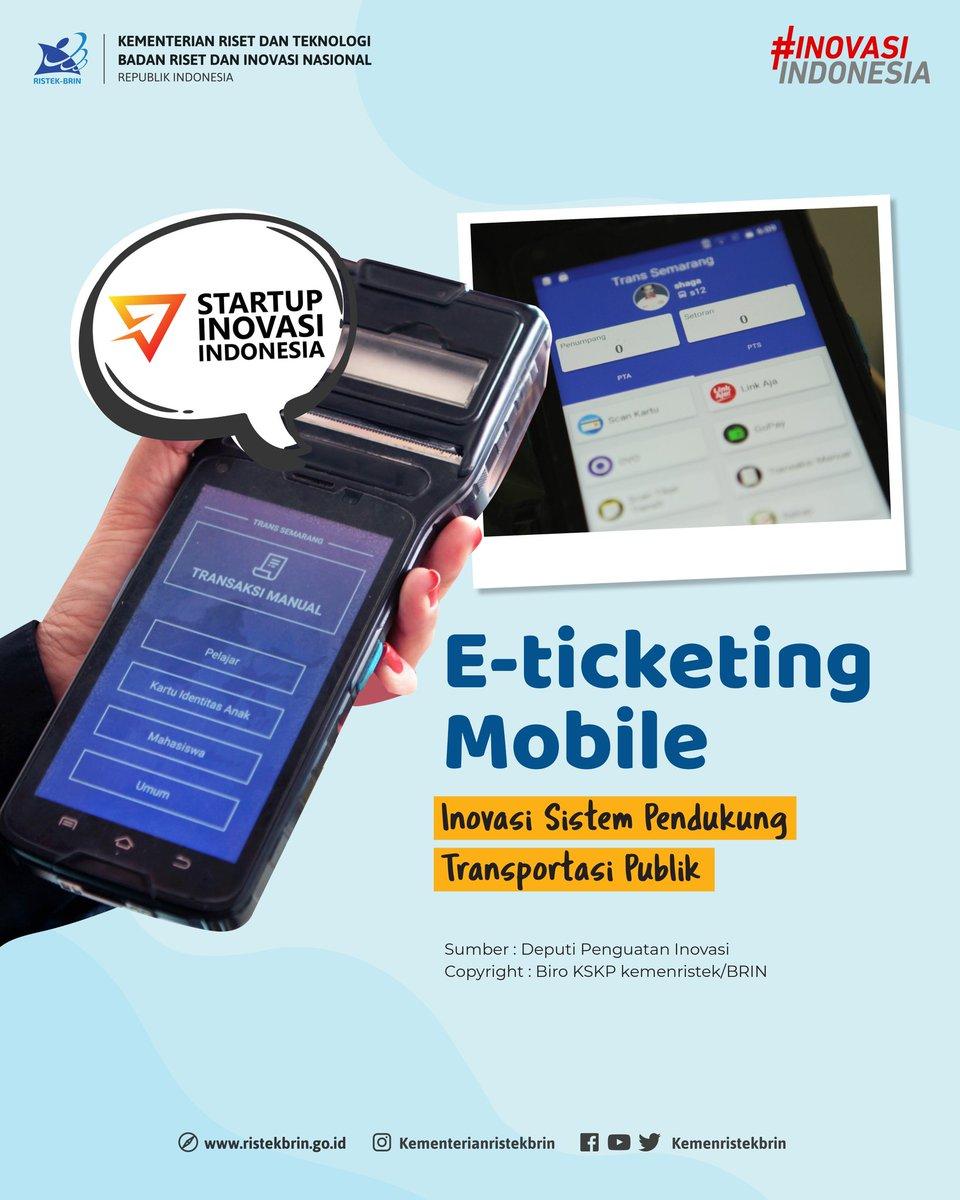Tahukah #KawanIptek apa itu E-Ticketing Mobile? E-Ticketing Mobile merupakan solusi layanan electronic ticketing untuk mengatasi permasalahan pembelian dan pembayaran tiket pada Bus Rapid Transit (BRT) yang diinisiasi oleh PT Nusantara Global Inovasi (PT NGI). https://t.co/qlC2B4TlWA