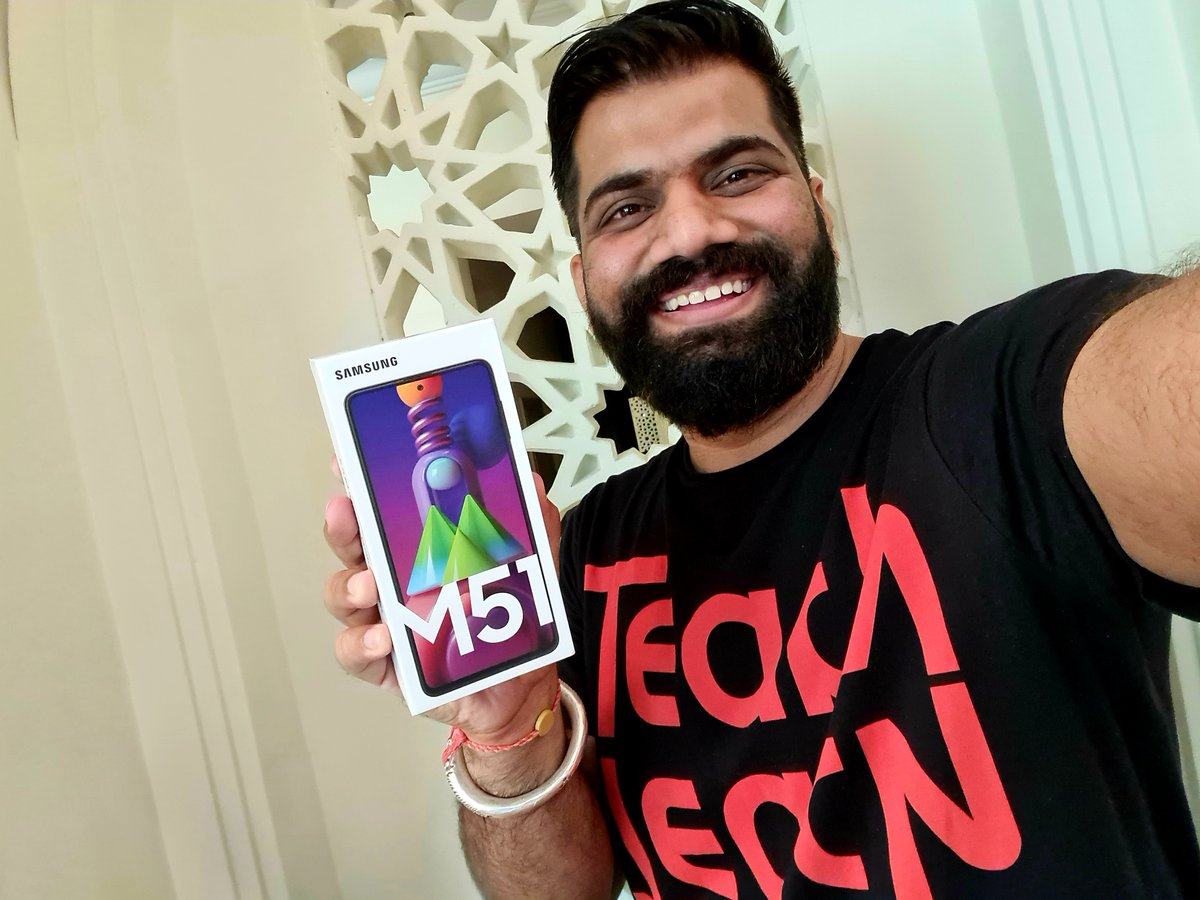 Hello #TGFamily... All new #GalaxyM51 specially for you!!!  Step 1. Follow @TechnicalGuruji  Step 2. RT with #TGFamily and #TechnicalGuruji  Step 3. Nacho!!!  Love you always!!!