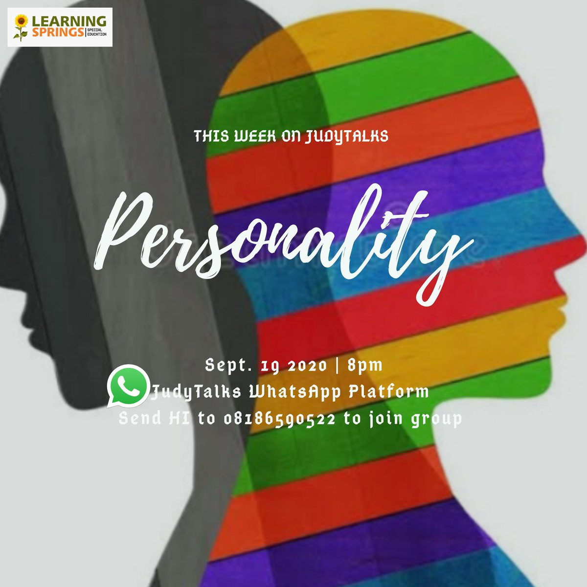 Our mental health series kicks off this Saturday. We warmly invite you to join us...  #personality #personalitytypes #judytalks #rehabilitation #mentalhealth #therapy #counseling #occupationaltherapist #healthcare https://t.co/6dMiJ4tENK