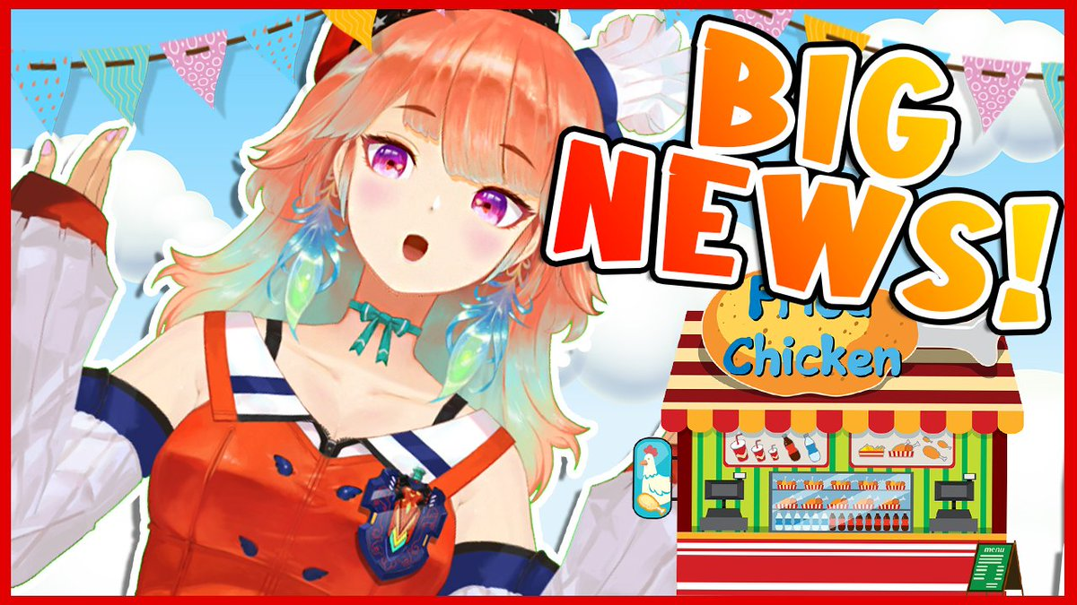 !HAPPY NEWS!Superchat has been enabled for my channel! 😱This means... we can start working on Kiara Fried Phoenix Fast Food empire~!!👏In 3h(10PM JST)we shall take the first big step!嬉しい事にキアラチャンネルはスパチャ可能になった!この後祝いしよー!🥳