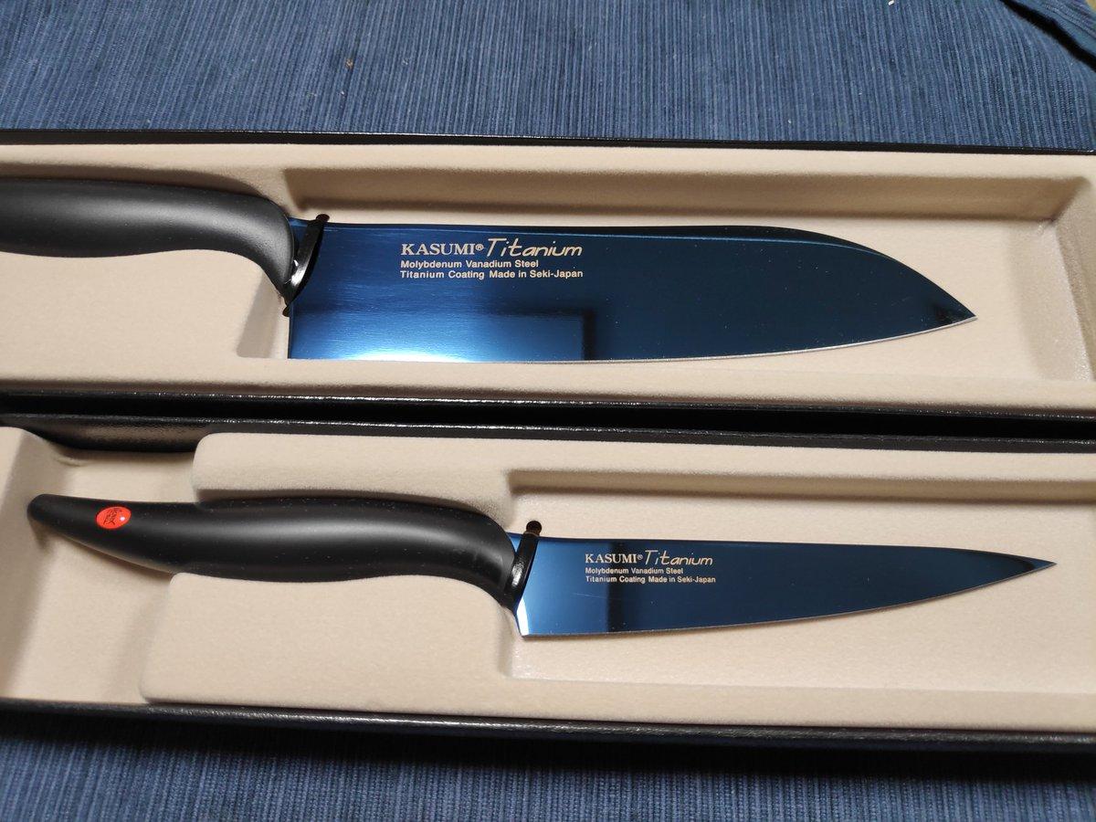 本日届いたふるさと納税返礼品はこれ 岐阜県関市からチタニウムコーティング剣型包丁