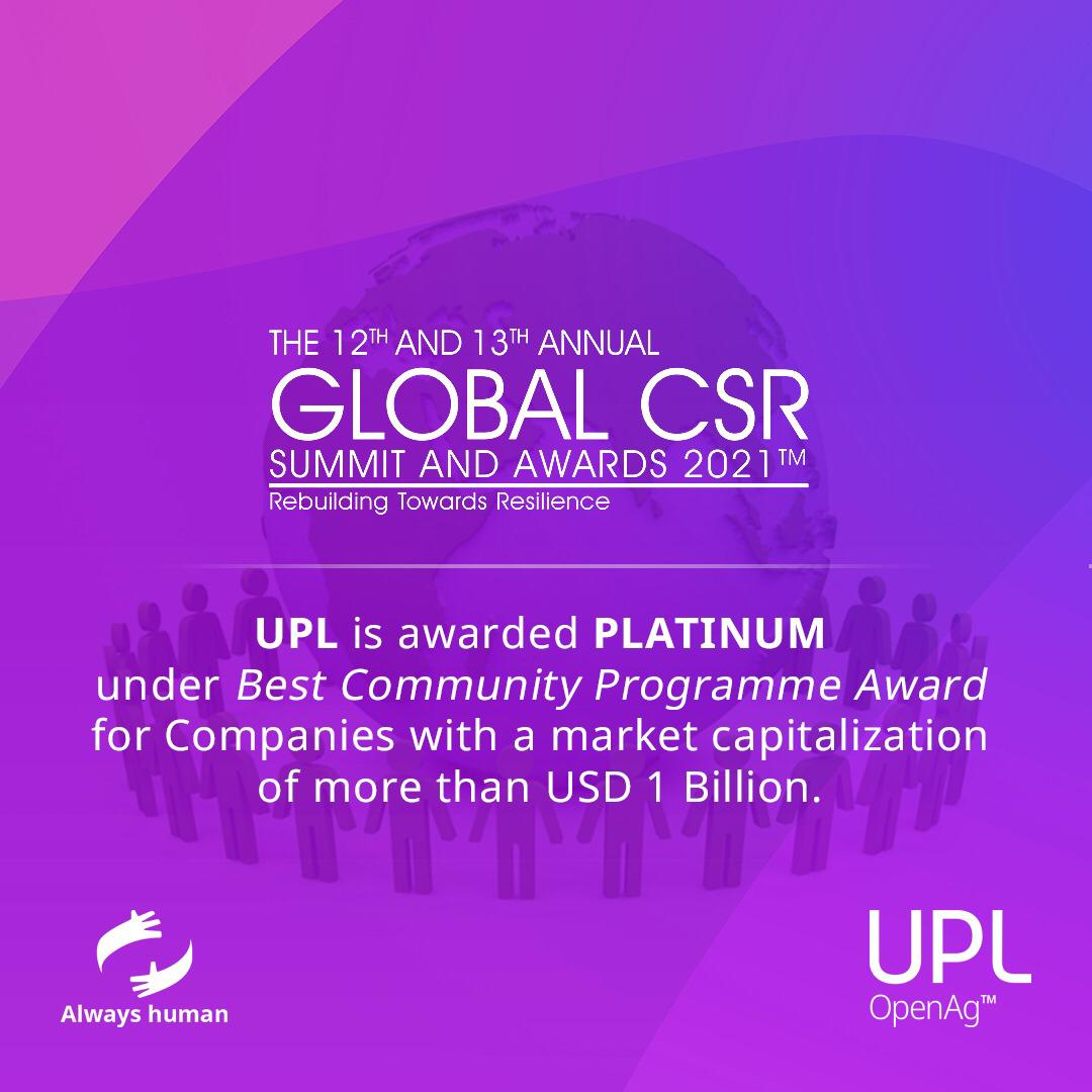 We are proud to announce that we received a Platinum award under the Best Community Programme category at the 12th Global CSR Summit & the Global Good Governance Awards. This highlights our commitment to creating a better tomorrow!  https://t.co/BP48jq7x7m #AlwaysHuman #CSR https://t.co/VZC4AMCEu2