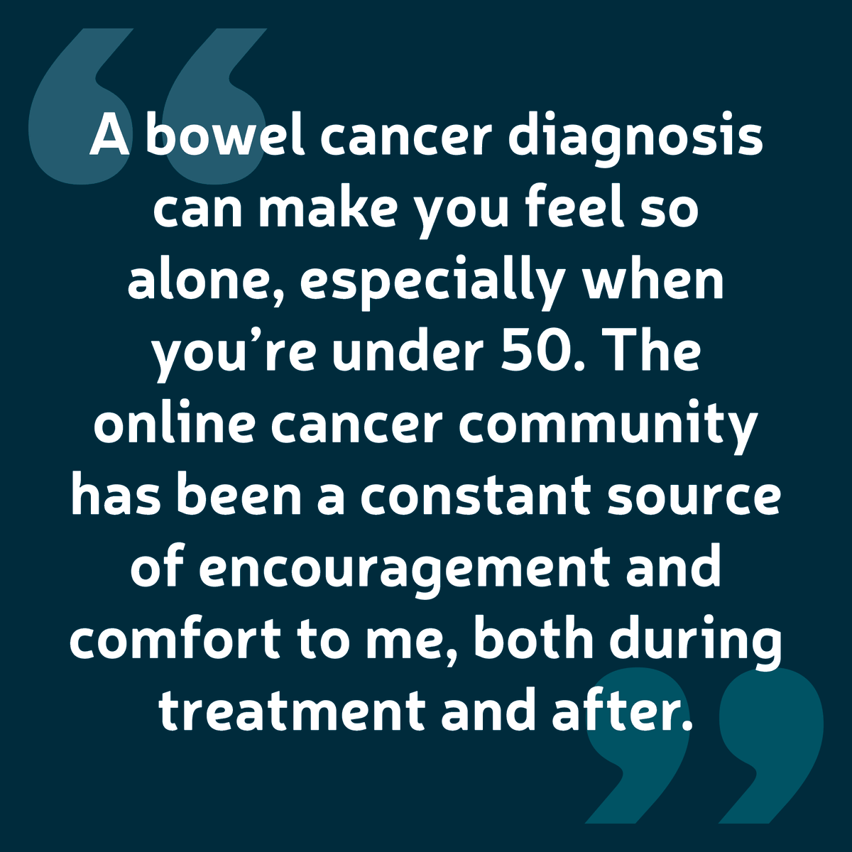 Bowel Cancer Uk On Twitter Our Community Forum Provides A Safe Place For Anyone Affected By Bowelcancer To Talk About Their Experiences Share Their Knowledge And Support Each Other We Never Want