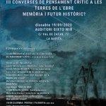 Image for the Tweet beginning: 💬 #JornadesCulturals20 | En el