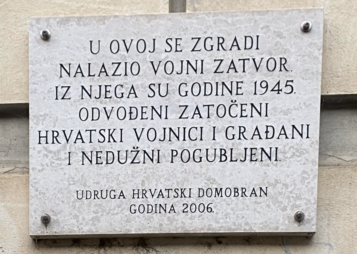 Croatianheritageassn On Twitter Zagreb Uppertown Nova Ves This Building Was Used As A Prison For Croatian Civilians Soldiers In 1945 After Ww2 Most Were Summarily Executed Without Trial Neverforgot Neveragain Yugoslav
