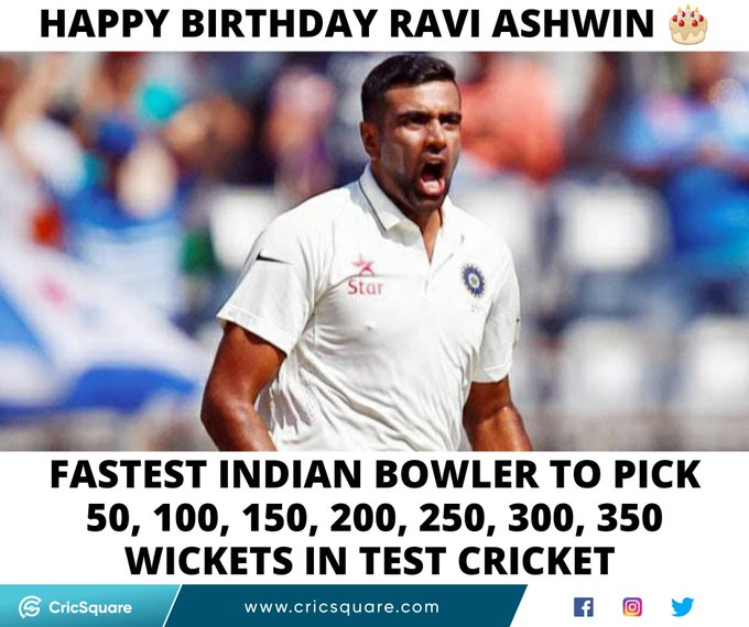 Happy Birthday, Ravichandran Ashwin.