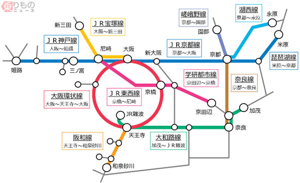 【21年春から】JR西日本の終電繰り上げ、京都発最終はほぼ23時台に大阪駅発の終電時刻は神戸線で24分、京都線で21分繰り上げ。一部線区では新幹線の最終便からの乗り継ぎが不可能に。