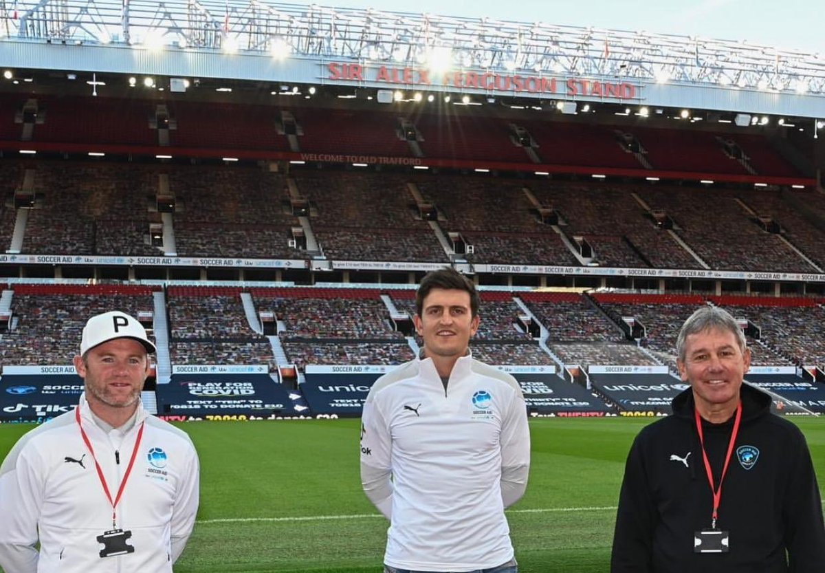 A big well done to everyone involved in helping raise £9.3 million at @socceraid for @UNICEF last week. Great to see @ManUtd ex captains @WayneRooney and @bryanrobson ❤️