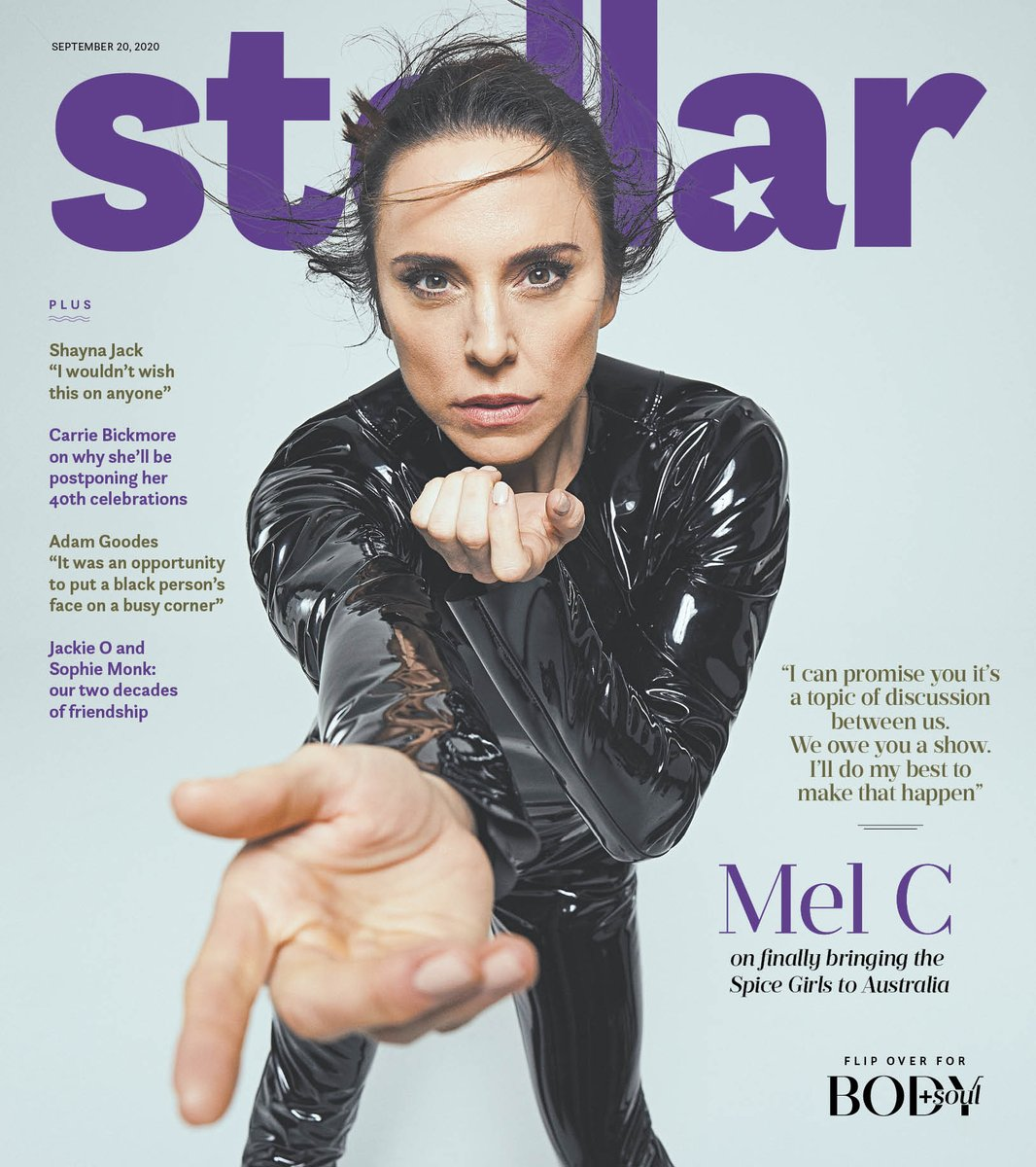SNEAK PEEK: @MelanieCmusic stars on the cover of this Sunday's Stellar. On the flipside, you'll find Body+Soul cover star @LindyKlim. Inside The Sunday Telegraph (NSW), Sunday Herald Sun (Victoria), The Sunday Mail (Queensland), Sunday Mail (SA) and Sunday Tasmanian (Tasmania). https://t.co/QMPCPhnRlp