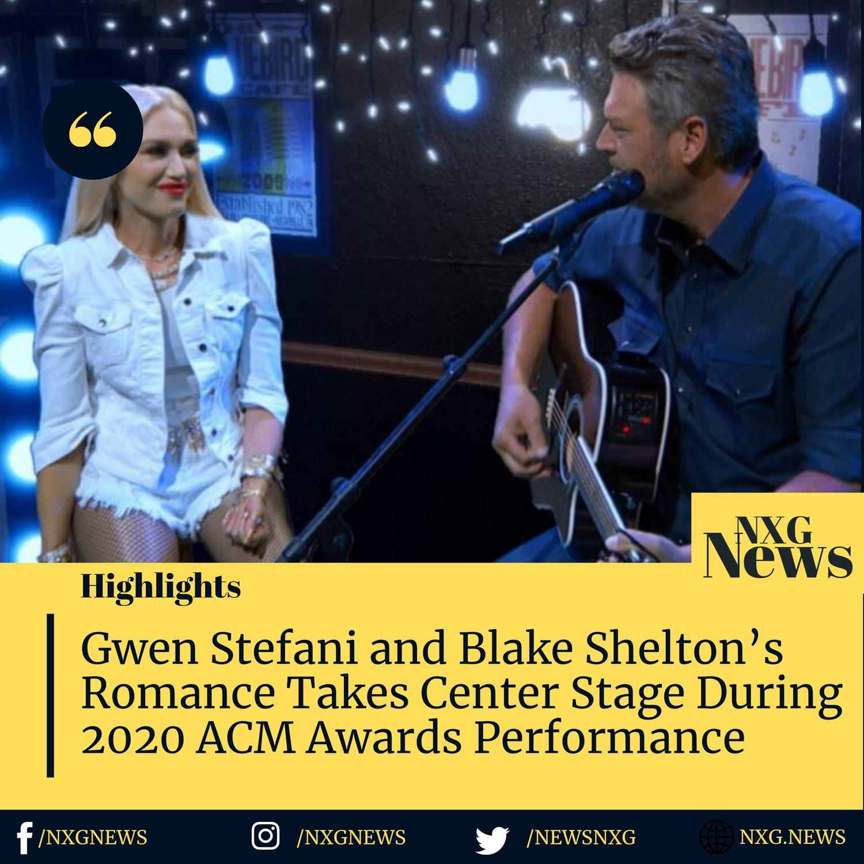 gwen-stefani-and-blake-sheltons-romance-takes-center-stage-during-2020-acm-awards-performance Photo